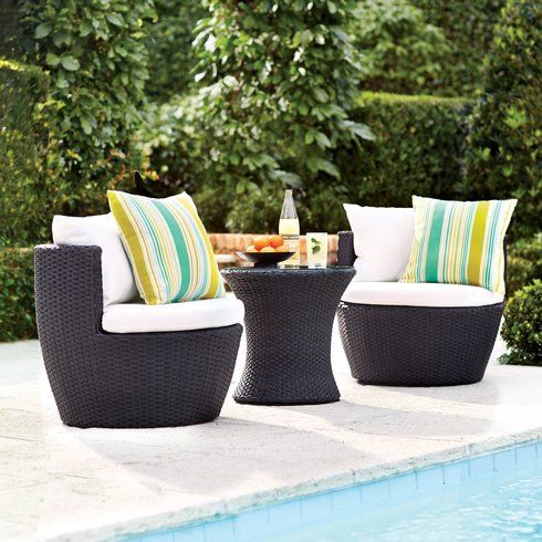 Wyler 3 Piece Lounge Seating Group with Cushion   Balcony/patio ...