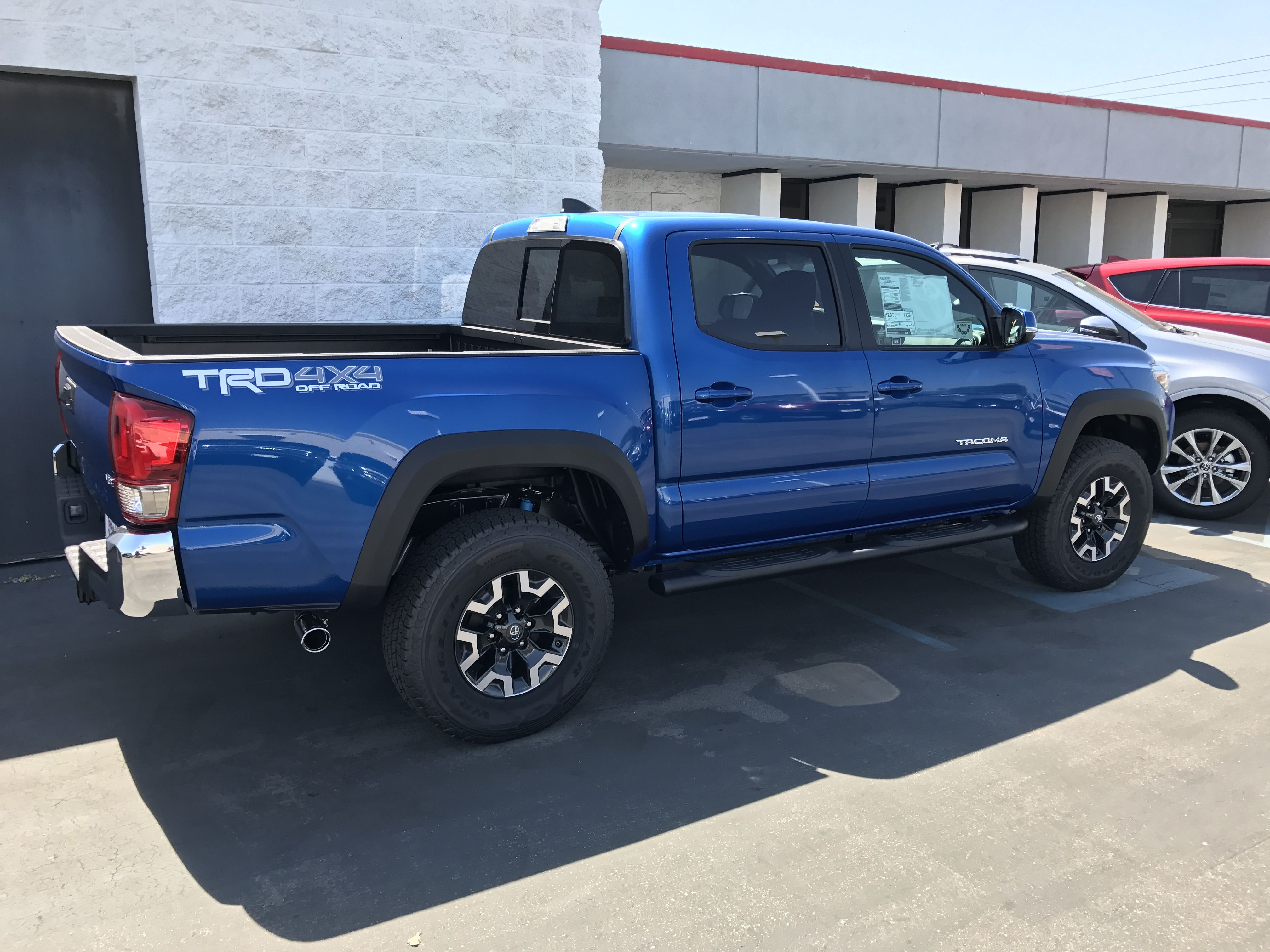 2017 toyota tacoma in blue trd double cab 4x4