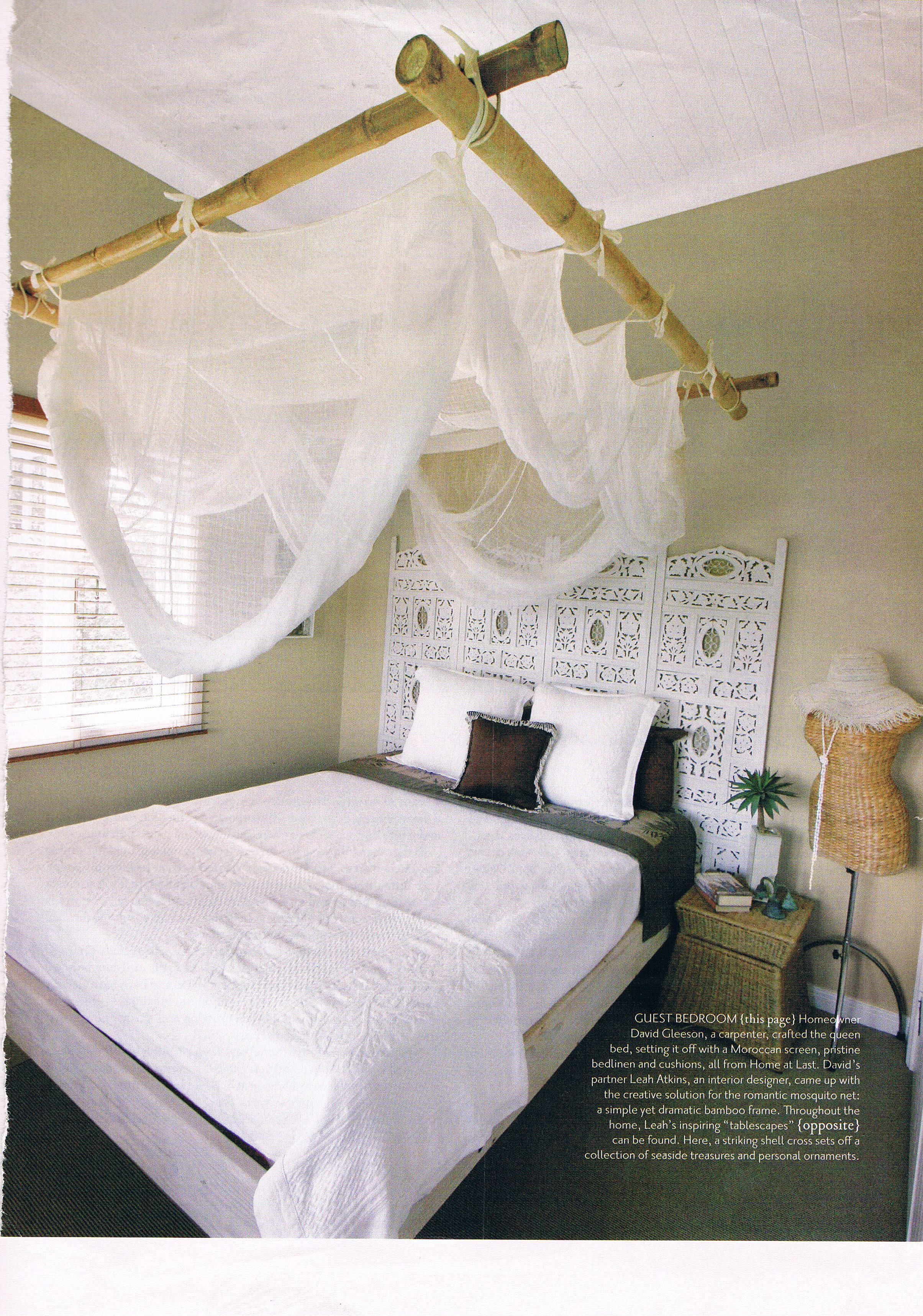 klamboe frame van bamboe stokken. handig en mooi | diy