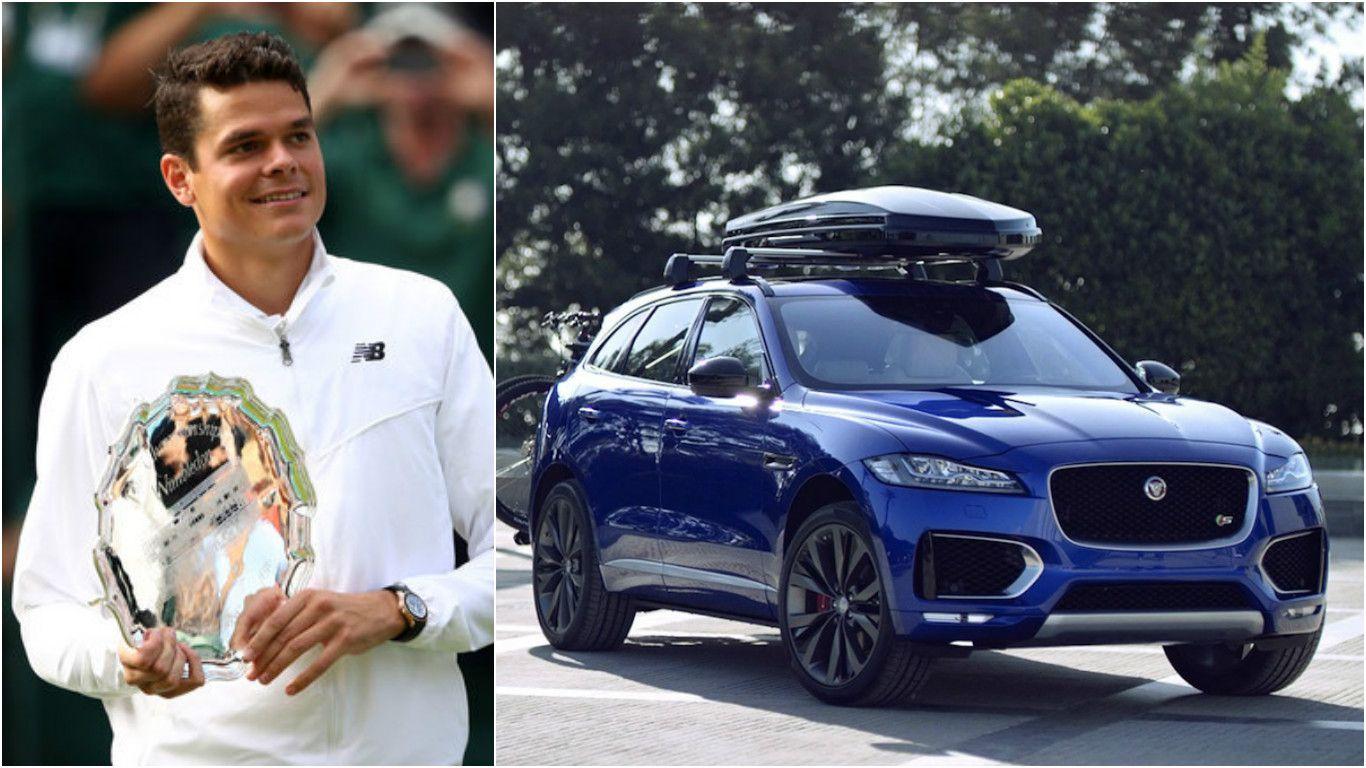World S 7th Seed Tennis Champ Milos Raonic And Jaguar Partner Up Bmw Classic Cars Jaguar Car Classic Cars