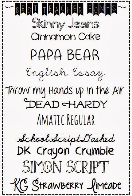 silver lining  best readable teacher fonts