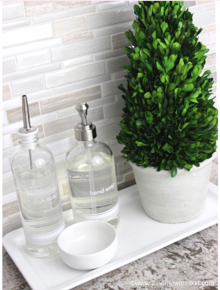 Soap Bottle Tray Countertop Tray Wooden Tray Pedestal Tray Kitchen Tray Bathroom Vanity T Glass Soap Dispenser Bottle Tray Refillable Soap