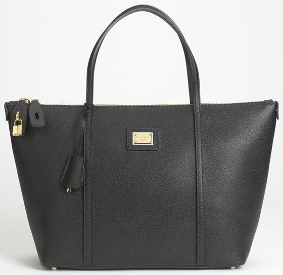5f8470d6ff Dolce   Gabbana Miss Escape Classic Leather Tote Nero