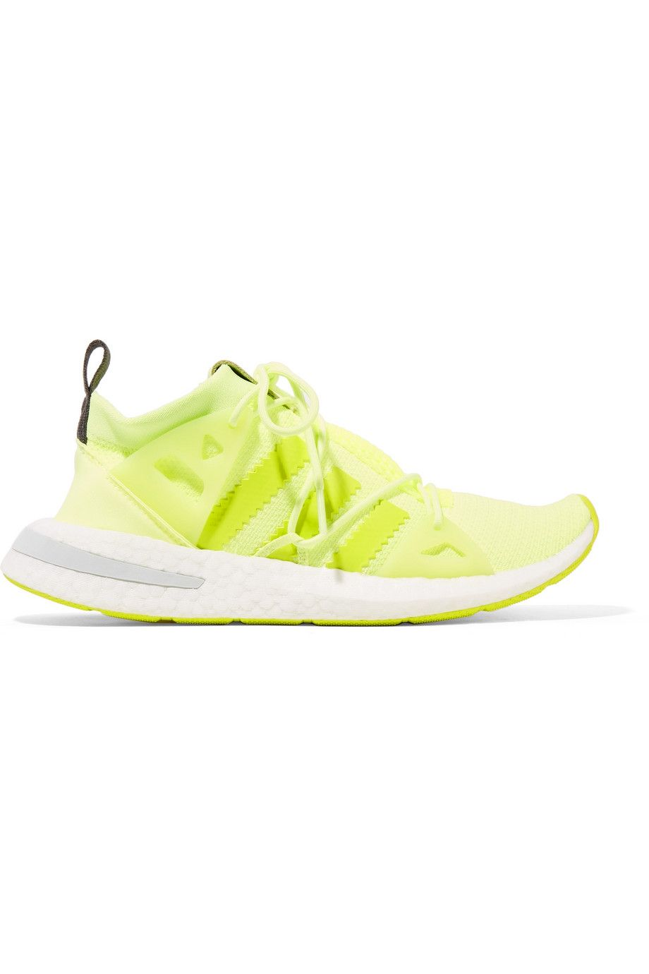 c7630793b99f adidas Originals - Arkyn rubber-trimmed neon mesh sneakers ...