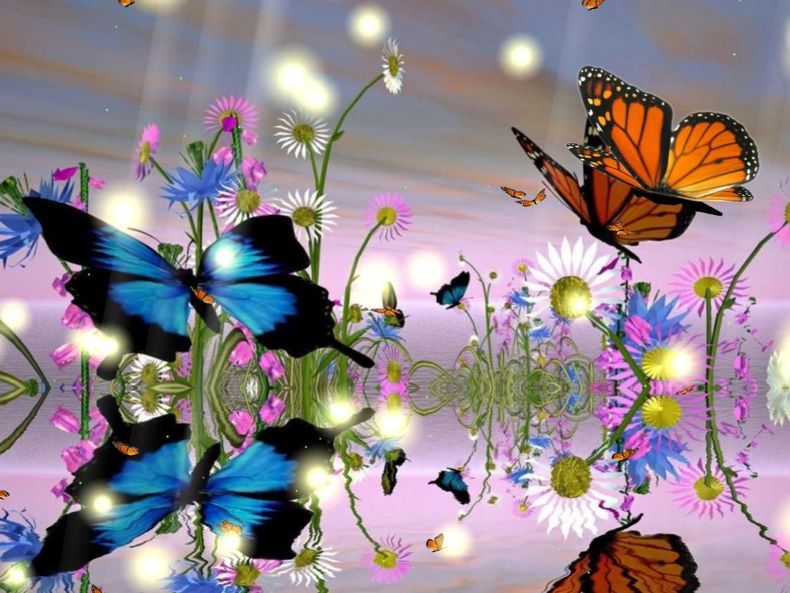 Animated Flowers And Butterflies Download Fantastic Butterfly