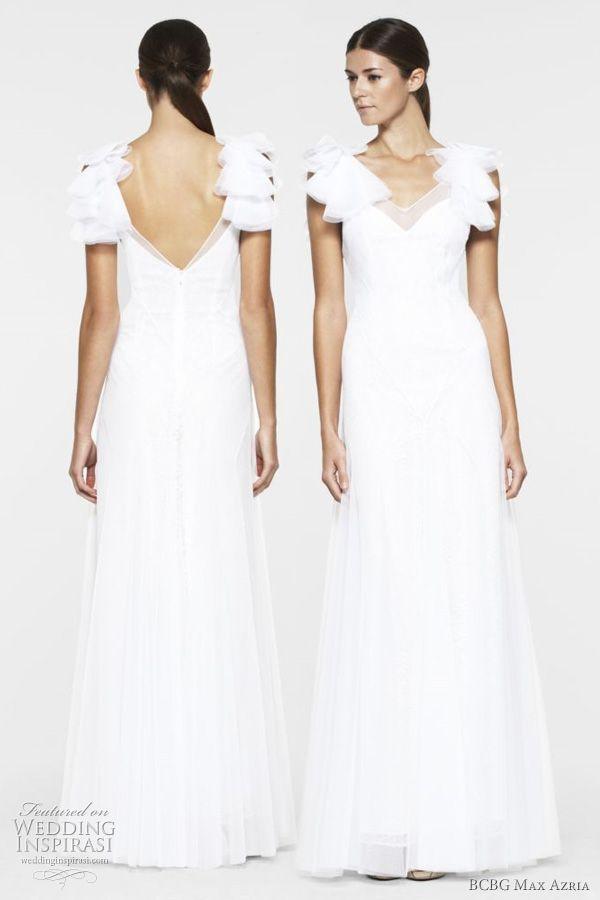 White Bcbg Maxazria Maggie Gown Wedding Dress Size 6 S 20 Off