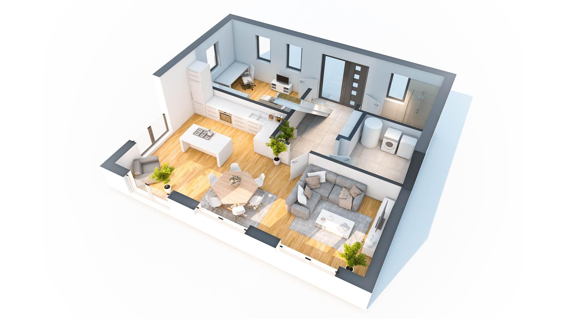 Hausidee Esche Haus, Haus ideen, Grundriss