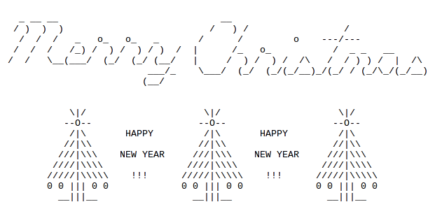Christmas trees in ascii text art ascii art ascii art ccuart Choice Image