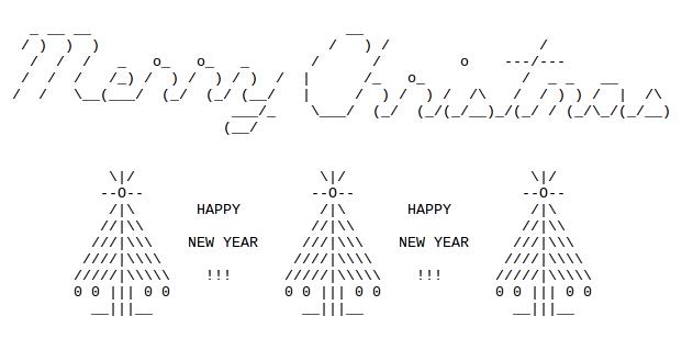 Christmas Trees In Ascii Text Art Ascii Art Text Art Art