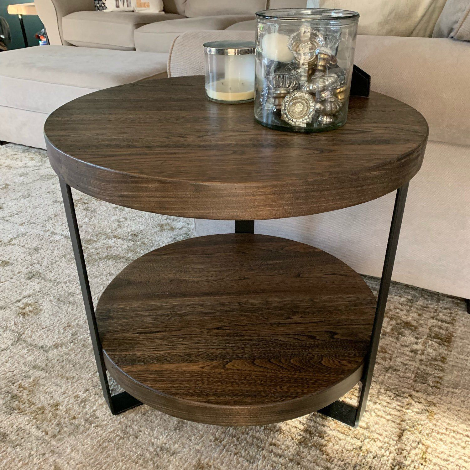 Barnwood Round End Table Coffee Table Night Stand Side Table Etsy Coffee Table Coffee Table Height End Tables [ 1500 x 1500 Pixel ]
