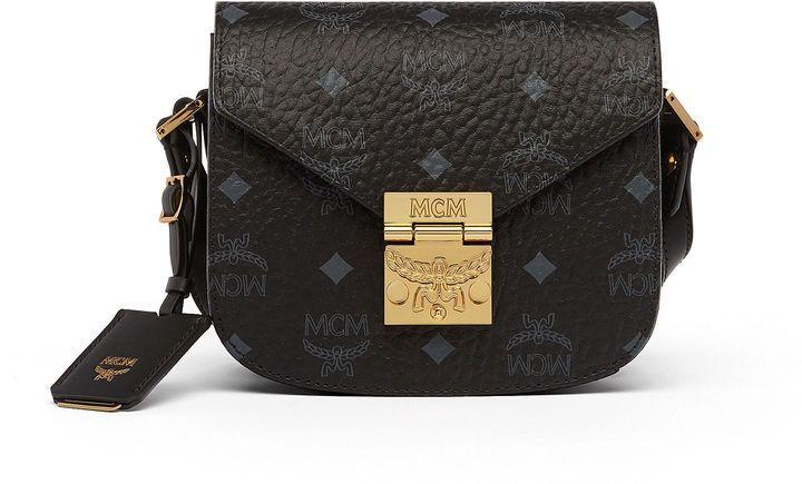 MCM Patricia Shoulder Bag In Visetos | Bags, Satchel