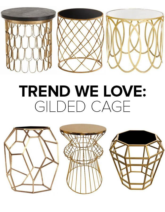 Trend We Love Gold Wireframe Side Tables Home Decor