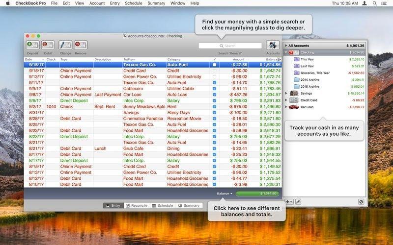 CheckBook Pro 2.6.1 for Mac 破解版 个人理财管理工具 Application