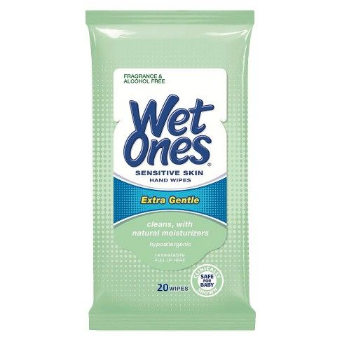 Wet Ones Extra Gentle Sensitive Skin Unscented Hand Wipes 20ct