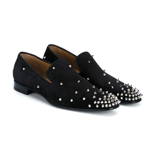 29df54acebc CHRISTIAN LOUBOUTIN Degra Flat Spike Suede Shoes ( 985) ❤ liked on Polyvore  featuring men s