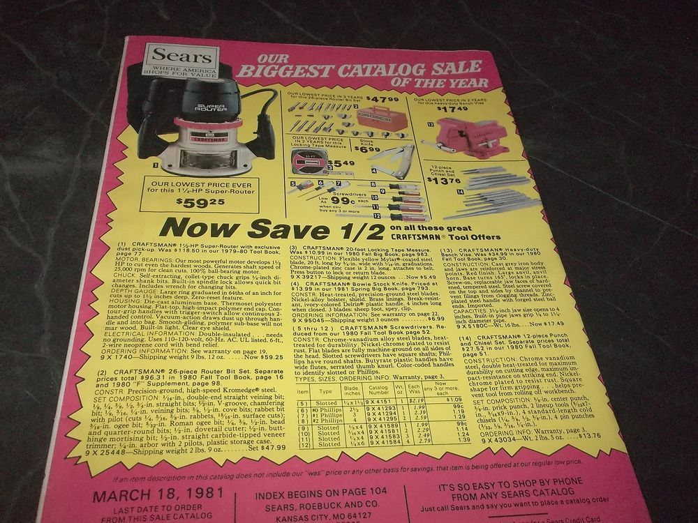 Vintage Sears catalog Clothes Boots Tools Furs Curtains