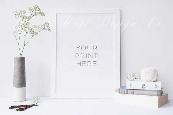 Frame mock up - PSD/Jpeg by White Hart Design Studio on Creative ...