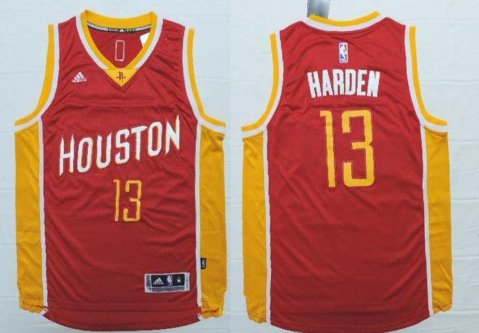 quality design d6b63 e477f Houston Rockets #13 Harden Red Throwback Men 2017 New Logo ...