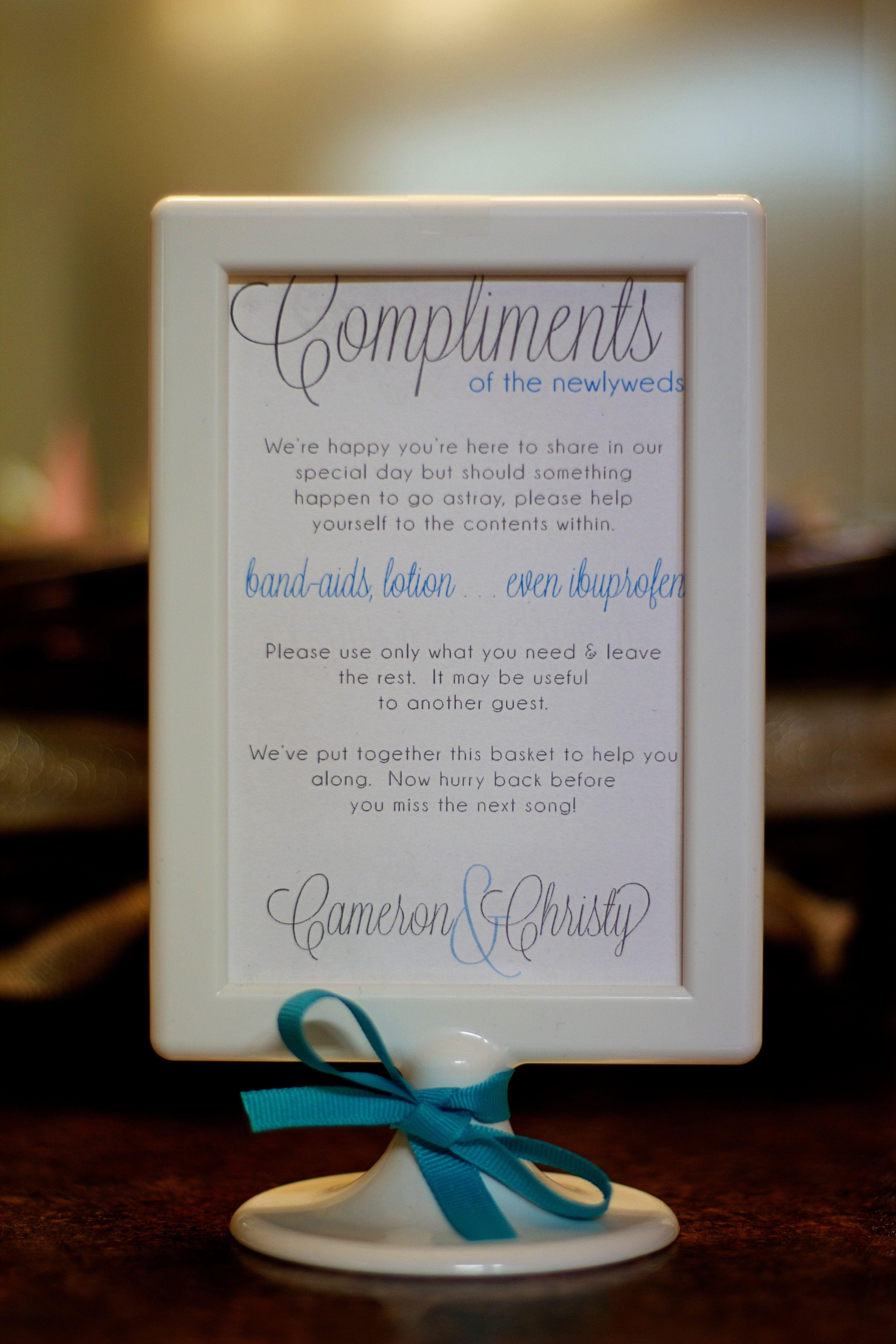 Bathroom Sign Next bathroom basket sign for wedding | rustic wedding ideas