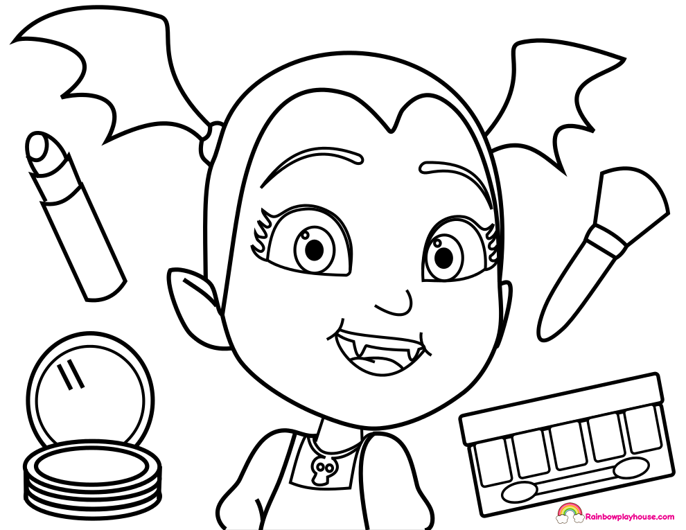 Printable Vampirina Makeover Coloring Page | Cute Coloring Pages ...