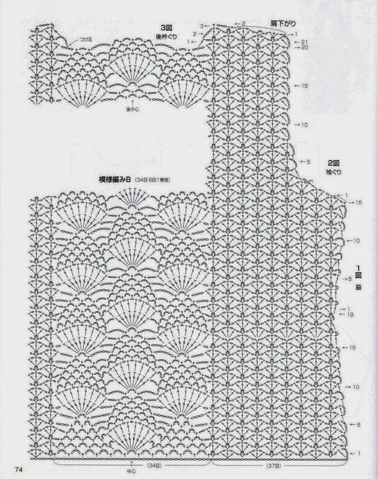 Pin de Ainiyah Azmi en shrugs | Pinterest | Blusas crochet, Blusas y ...