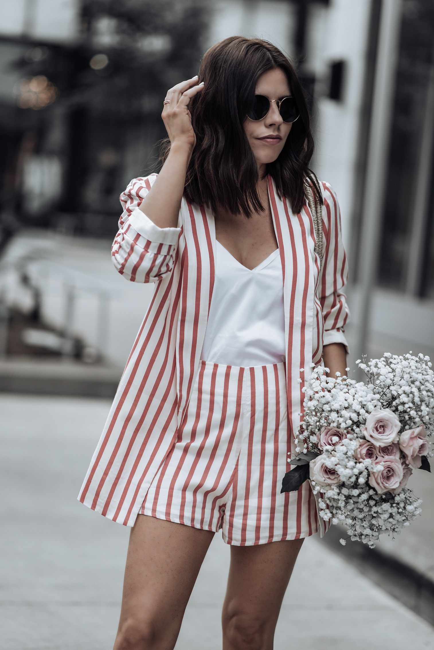 Striped blazer set - Flaunt and Center