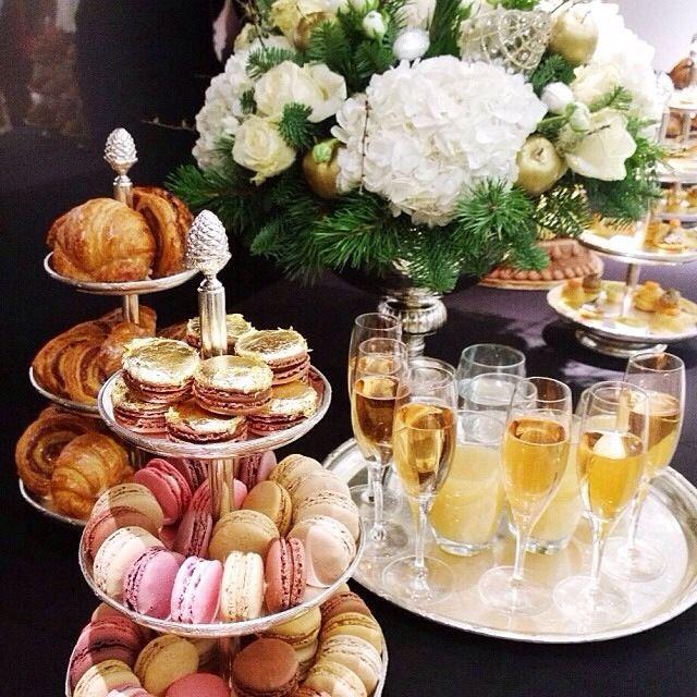 Tea and champagne.