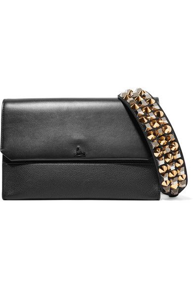 86ac3a591f0 CHRISTIAN LOUBOUTIN | Loubiblues Studded Smooth And Textured Leather ...