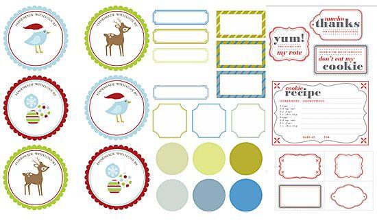 Printable gift tags for your christmas diy great oak circle free printable gift tags negle Images