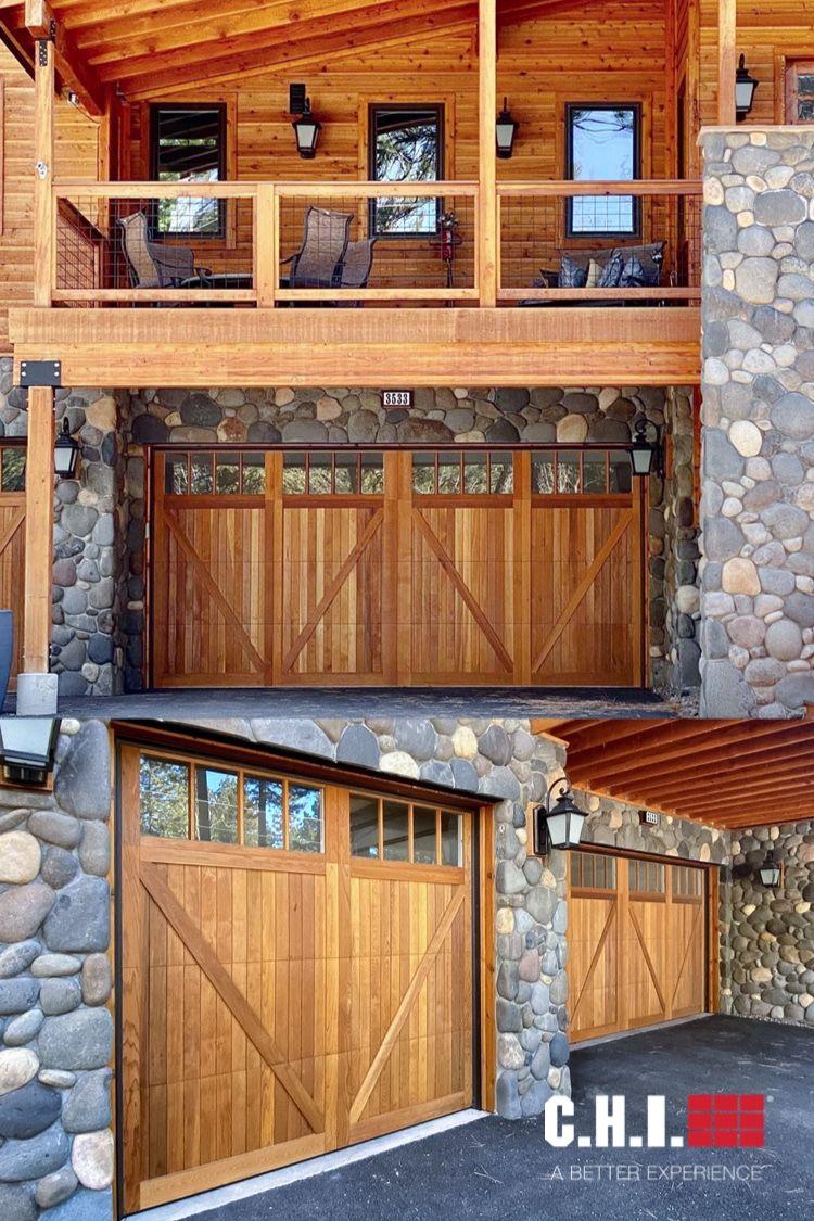 Wood Overlay Garage Doors On Lake Tahoe In 2020 Garage Door