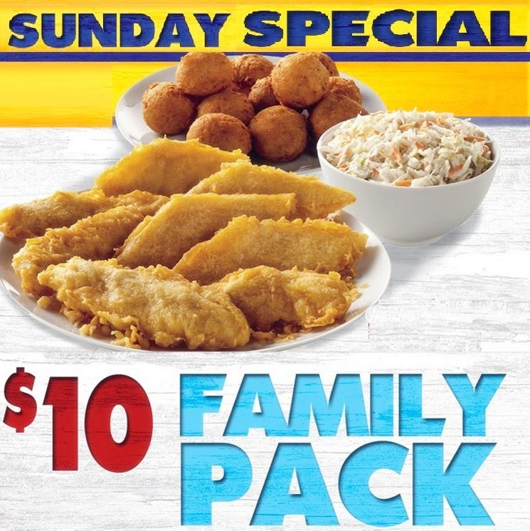 image about Long John Silver Printable Coupons named Extended John Silvers Sunday Exclusive - $10 Household pack