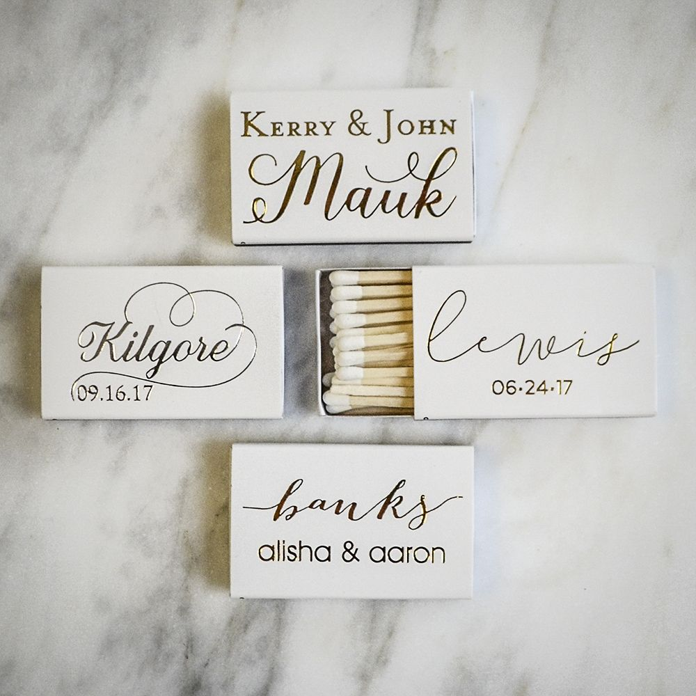 New last name, who dis? Custom matchbox favors from graciousbridal ...