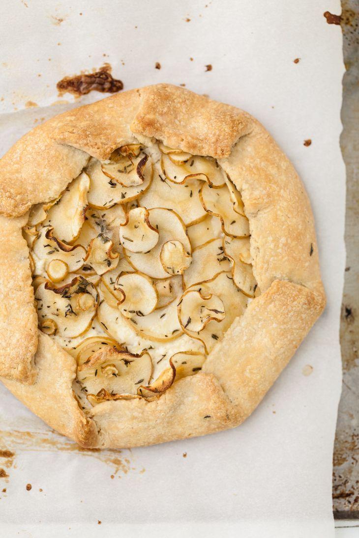 Parsnip Galette via Naturally Ella #vegetarian #parsnip
