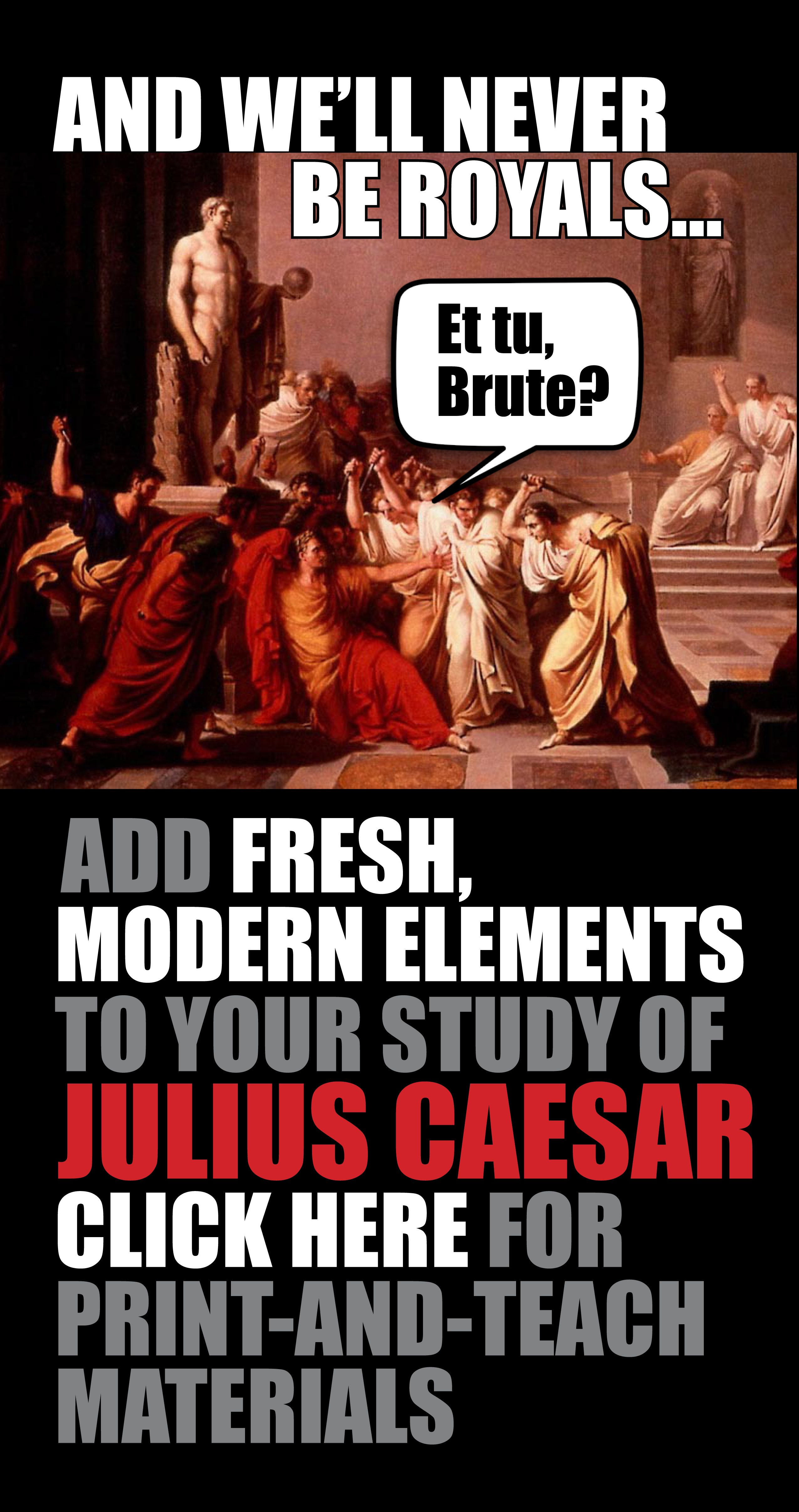Julius Caesar Unit Plan Shakespeare Five Weeks Of High Interest Lessons Ccss