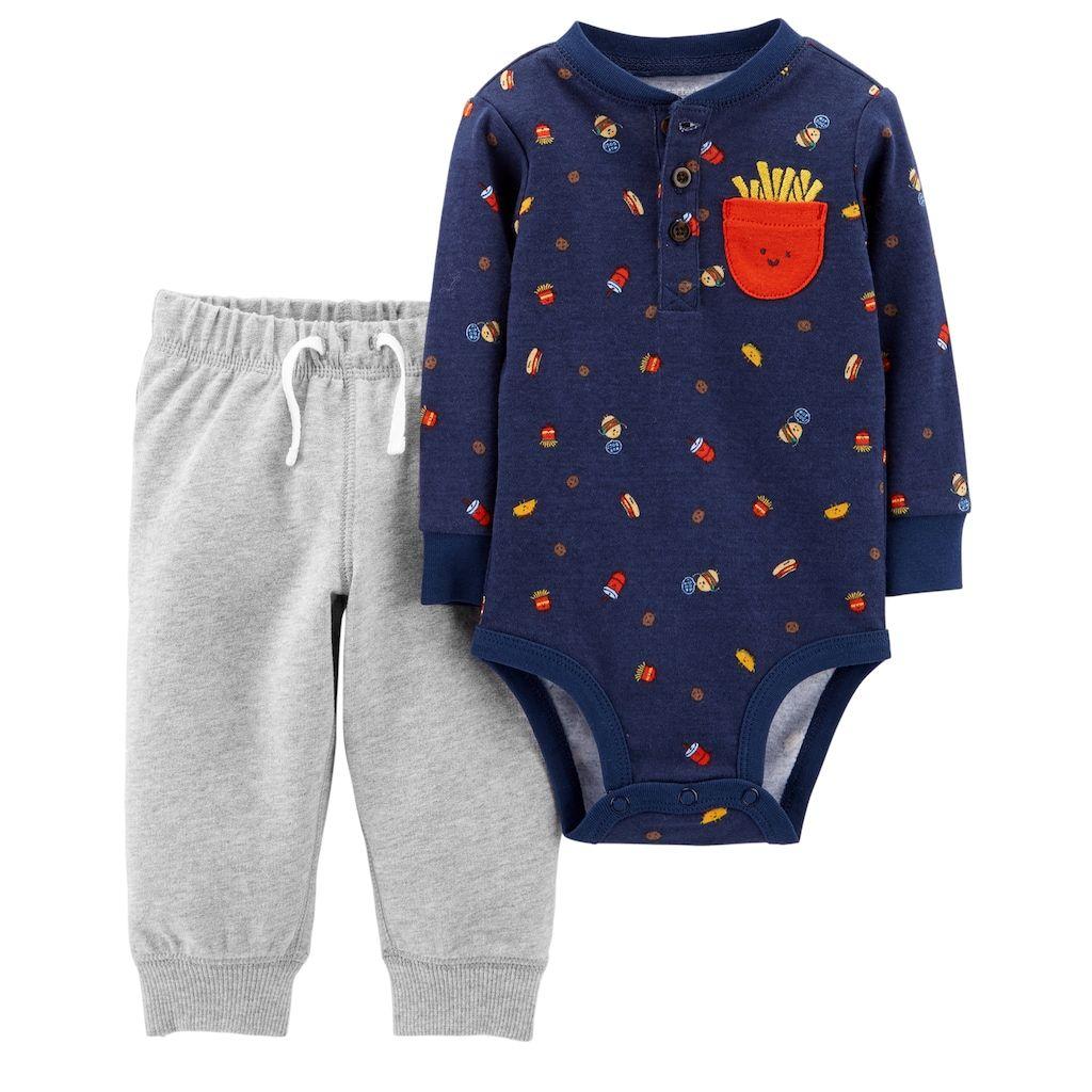 b3a68d74a18a Carter s Baby Boy Food Bodysuit   Pants Set