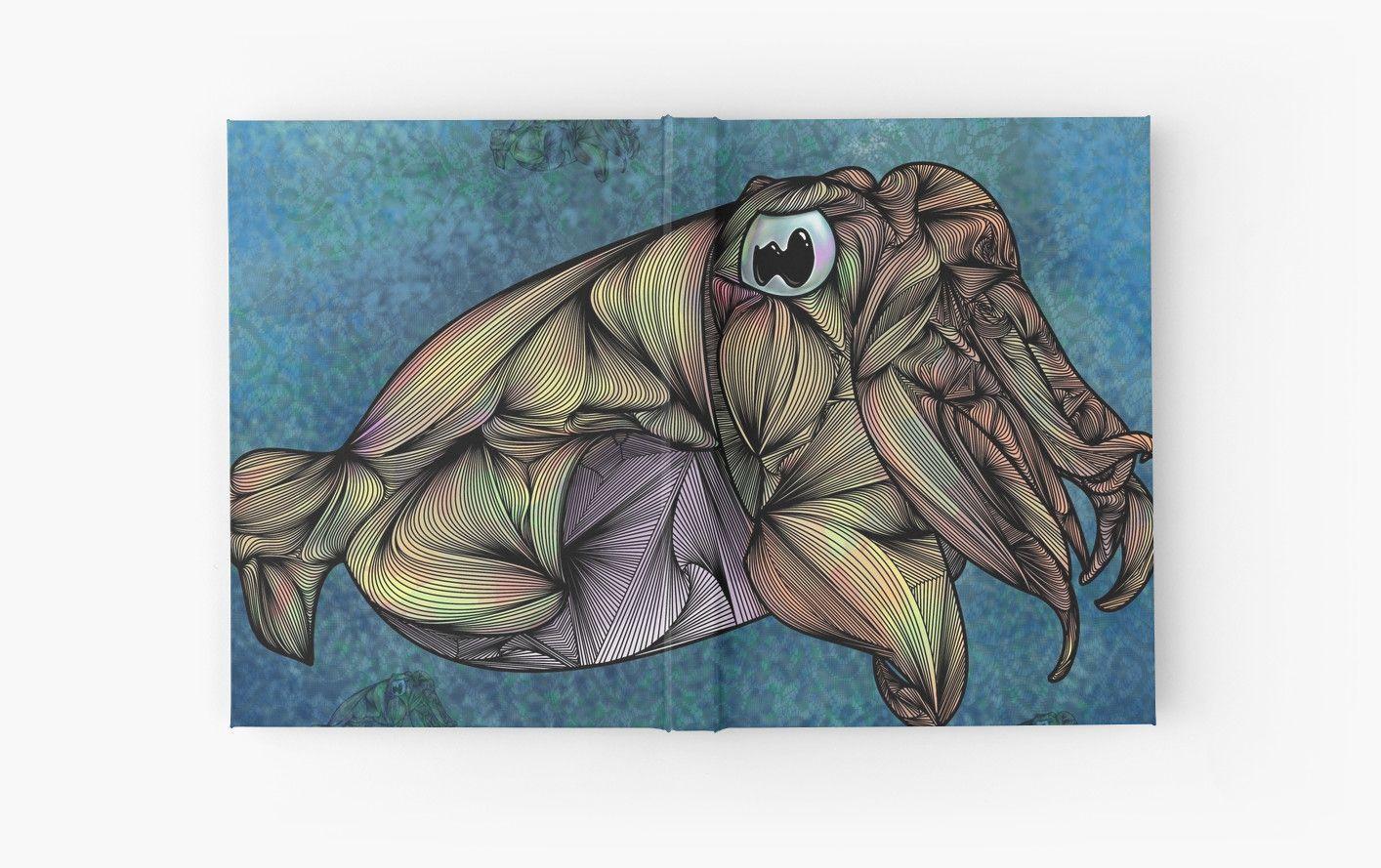 """CuttleFish"" Hardcover Journals by Ben Geiger | Redbubble"