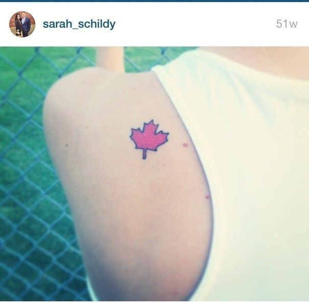 """Small Canada Tattoo: """"As A Canadian Living In Tennessee, I Had To Make Sure My"""