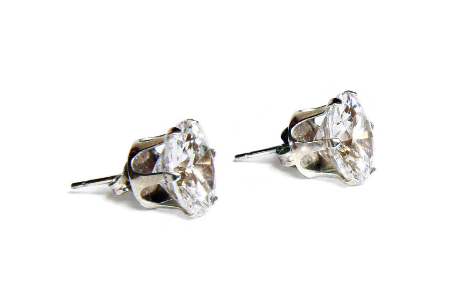stud clear clip products double earrings on dv vintage large cliponearringschic swarovski crystal