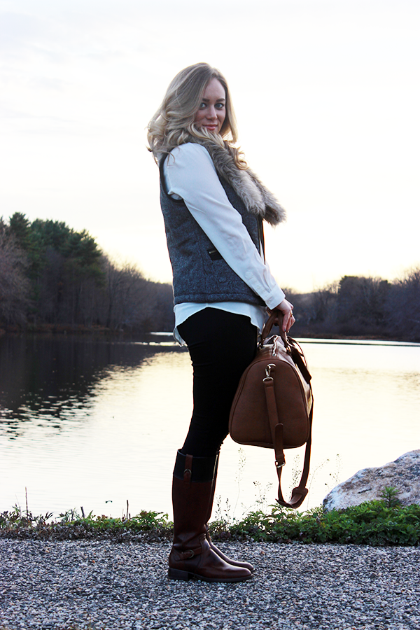 The Ariat York boot and a mini dress make a lovely combo on Erika ...