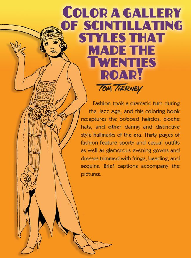 Fashions Of The Roaring Twenties Coloring Book Dover Publications