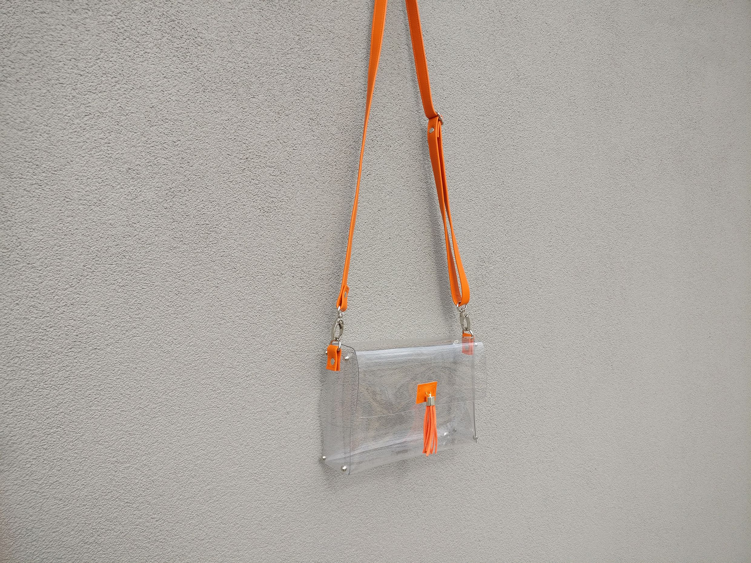 580d00580674 clearlee orange    stadium-approved clear handbags    clearleebag ...