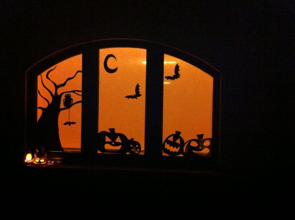 windows decoration for halloween