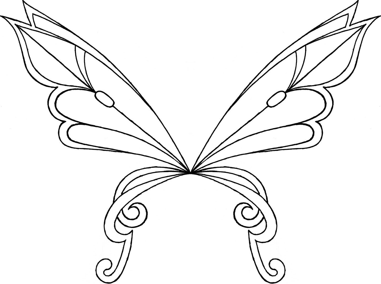 Winx Club Sirenix Colorear Alas Sophix De Layla Flora Musa Y Tecna Wings Drawing Fairy Wings Drawing Fairy Wings