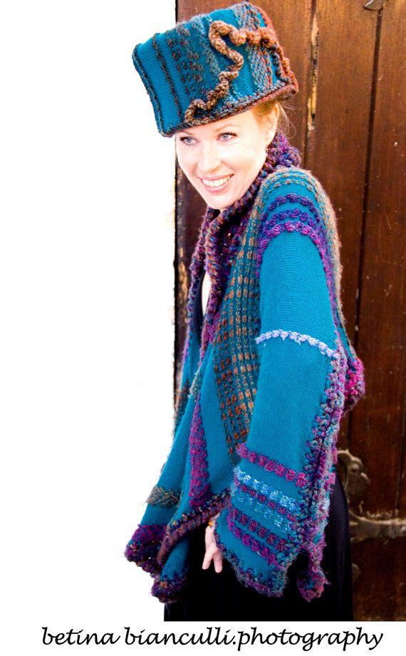 Whitstable scalda Marino e lana tessuta, capo banda e giacca. La casa di Lavene