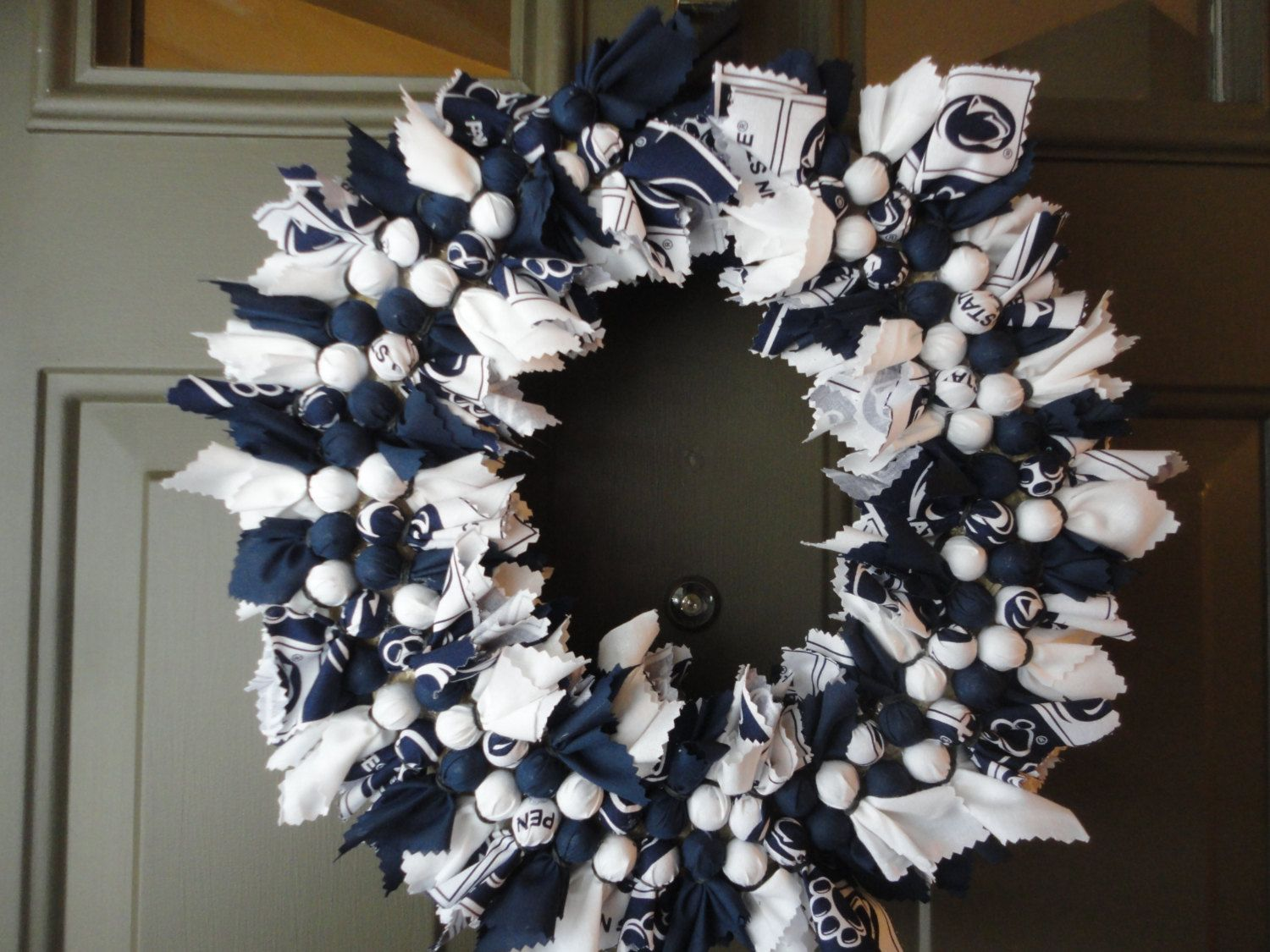 Penn State Fabric Wreath by JewelsbyJWC on Etsy, $24.00 ... - photo#41