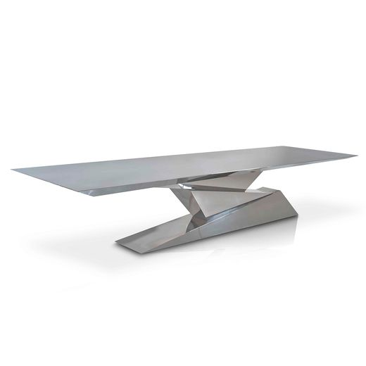 Tectonic Dining Table Steel Furniture Design Stainless Steel
