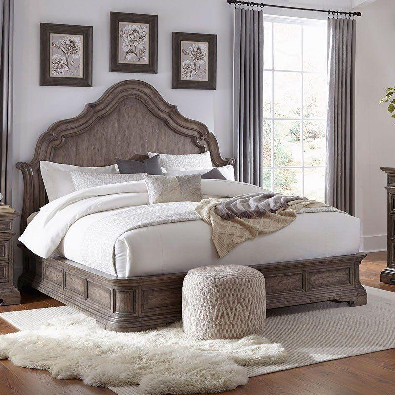 Pulaski Upholstered King Bed Frame With Images King Upholstered Bed King Bed Frame Upholstered Panel Bed