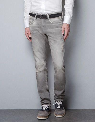 3f23f68c2e JEANS GRIS LAVADO - Jeans - Hombre - ZARA Panamá