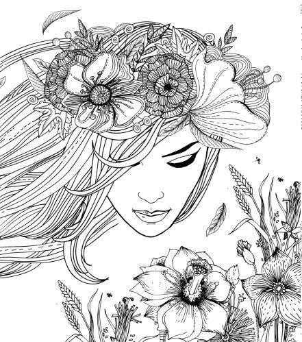 coloring books for adults krolewna snieka - Coloring Pages For Women
