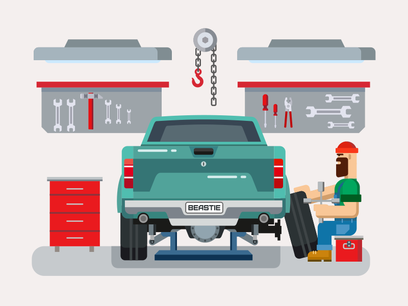 Car Service Illustration Garage Repair Car Repair Service Car